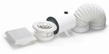 Domus Ventilation Domus In Line Axial DVF Duct Timer Fan Kit - 100mm